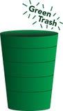 Lixo verde Foto de Stock