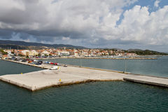 Lixouri city at Kefalonia, Greece Stock Photography