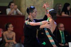 Liya Kazbekova and Ayan Zhumatayev - ballroom dancing Royalty Free Stock Photo