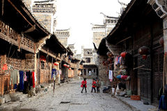 Liye , the chinese ancient tujia town in Hunan Royalty Free Stock Photography