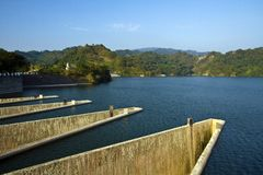 Liyutan reservior in Taiwan Stock Photos