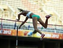 Liz Parnov from Australia celebrates silver medal Royalty Free Stock Image