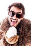 Lizać snowball Zdjęcie Stock