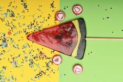 Lizak i cukierki z valentine serca znakiem Obraz Royalty Free