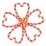 Lizak, kwiat kłaść out z Bożenarodzeniowymi cukierkami z jagody Elementy dla kartki bożonarodzeniowa beak dekoracyjnego latająceg royalty ilustracja