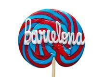 Lizak z tekstem Barcelona Obrazy Royalty Free