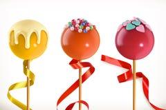 Lizaka cukierek 3d ikona wektor Obrazy Royalty Free