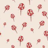 Lizaka ręka rysujący nakreślenie na różowym tle bezszwowy wzoru Obraz Stock