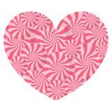 Lizaka serce na białej tło wektoru ilustraci Obraz Royalty Free