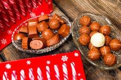 Lizaki i czekoladowi cukierki zdjęcie royalty free
