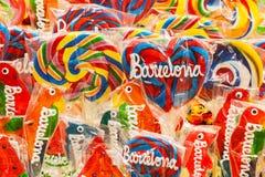 Lizaki przy losu angeles Boqueria rynkiem, Barcelona, Hiszpania Zdjęcia Stock