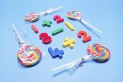 Lizaki z Plastikowymi liczbami zdjęcie stock