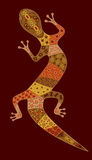 Lizard. Figure in the African style for the design Stock Photos