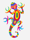 Lizard abstract colorfully Stock Photos