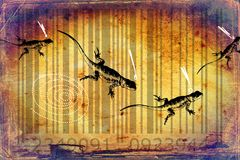 Lizard barcode animal design art idea Royalty Free Stock Images