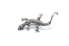 Lizard brooch Stock Photo