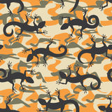 Lizard camouflage seamless pattern Stock Photo