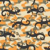 Lizard camouflage seamless pattern Stock Photo