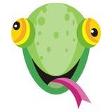Lizard Cartoon Sticker Widespread Squamate Reptile. Lizard cartoon sticker. Widespread squamate reptile happy face. Funny sticker icon for children. Wildlife Stock Photography