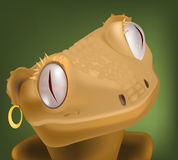Lizard from children's cartoon films Royalty Free Stock Image
