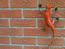 Lizard outdoor decor royalty free stock image