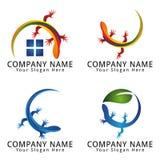 Lizard Concept Logo Stock Photo
