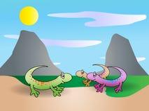 Lizard family Royalty Free Stock Photo