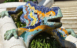 Lizard fountain Stock Images