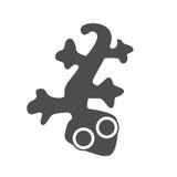 Lizard, gecko  , logo graphic design Royalty Free Stock Photos
