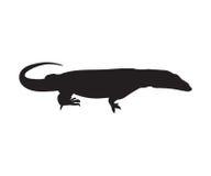 Lizard Icon. Varan Silhouette Stock Image
