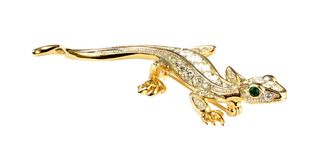 Lizard jewellery Stock Photography
