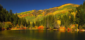 Lizard Lake. Beautiful Lizard Lake in the splendor of fall royalty free stock photography