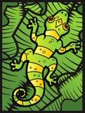 Lizard on Leaves Stock Photo