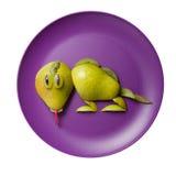 Lizard made of fruits Royalty Free Stock Photos