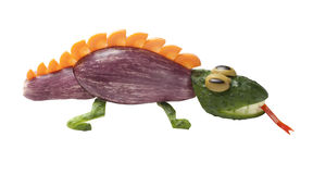 Lizard made of vegetables Royalty Free Stock Photos