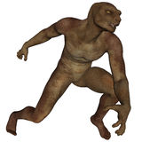 Lizard man. 3D rendered lizard man on white background isolated Royalty Free Stock Images
