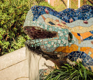 Lizard in Park Guell in Barcelona, Spain. Stock Photo