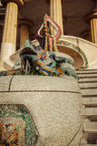 Lizard in Park Guell in Barcelona, Spain. Royalty Free Stock Photos