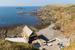 The Lizard peninsula Cornwall England UK south of Helston in summer on calm blue sea sky day Royalty Free Stock Photography