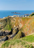 The Lizard peninsula Cornwall England UK south of Helston in summer on calm blue sea sky day Stock Images