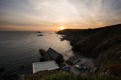 Lizard Point Cornwall polpeor cove Stock Images