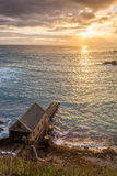 Lizard Point Cornwall Sunset Royalty Free Stock Photos