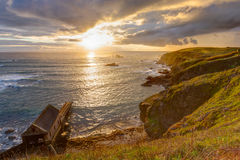 Lizard Point Cornwall Sunset Stock Image