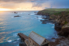 Lizard Point Cornwall Sunset Stock Photography