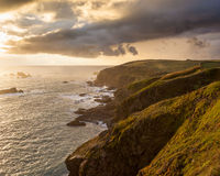 Lizard Point Cornwall Sunset Stock Image