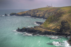 Lizard Point and lighthouse landscape Stock Image