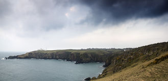 Lizard Point and lighthouse Royalty Free Stock Photography