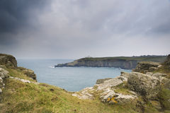 Lizard Point and lighthouse Royalty Free Stock Photos
