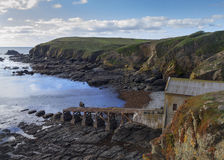 Lizard Point Old Lifeboat Station Stock Photo