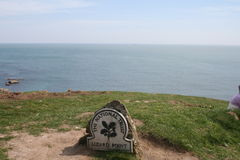 Lizard Point. View out to sea from Lizard Point in Cornwall England stock photography
